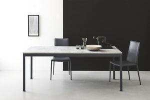 Calligaris-Design-Tisch-Snap-4085-ML-120-betongrau-Gestell-grau-matt-ausziehbar
