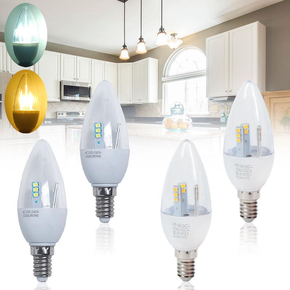 6 12 24x E14 SES Bombillas LED Vela Proyector 5W = 50W No regulable   Regulable