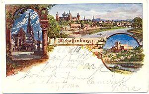 aschaffenburg k nstler litho 1897 nach frankenthal. Black Bedroom Furniture Sets. Home Design Ideas