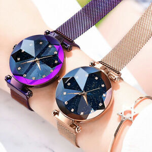 Elegant-Women-Ladies-Crystal-Starry-Sky-Watch-Magnetic-Strap-Watches-Gift-New-UK