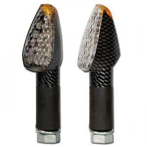 Vidrio-LED-Luz-Mini-Winker-Blanco-Intermitente-Pico-Aspecto-Carbono-40mm-Largo