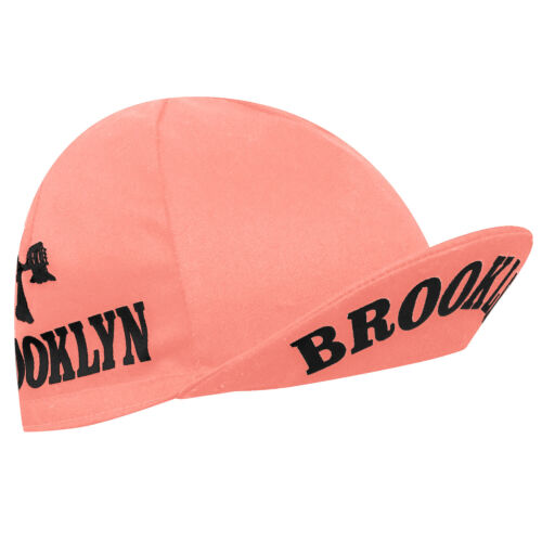 Brooklyn New York City Cycling Cap Pink ; Retro Fixie Hipster New York Hat