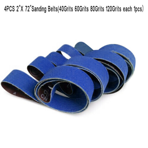4 Pack 2 X 72 Inch 40 60 80 120 Grit Metal Grinding Ceramic Sanding Belts