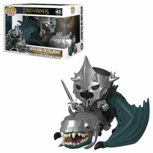 "/""Witch King on fellbeast VINILE personaggio 63/"" Funko POP rides signore degli anelli"