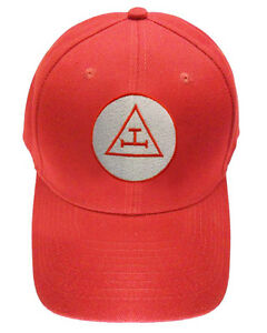 Royal Arch Masonic Baseball Cap - Red Hat w  Royal Arch Triple Tau ... f702955f3513