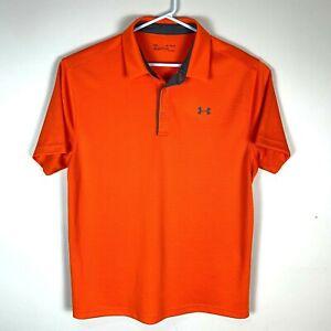 Under-Armour-Premium-Orange-Polo-Shirt-Size-Men-039-s-XL