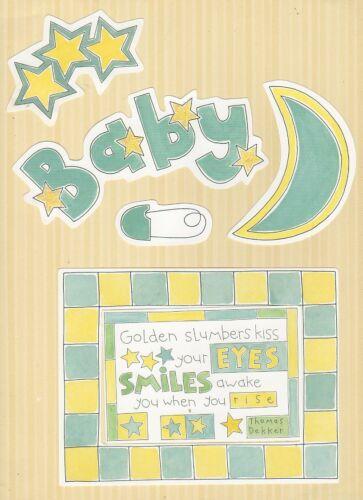 My Minds Eye temporadas Scrapbook dado corta ~ Bebé Niño 6 piezas