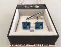 Original Penguin By Munsingwear Suited Cuff Links & Tie Pin Set In Gift Box 1770