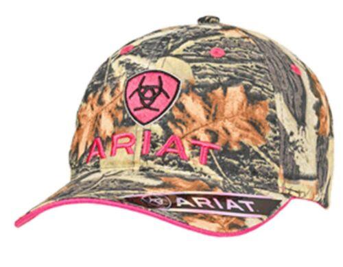 Ariat Femme Baseball Chapeau Bonnet Crochet /& Boucle Camo Logo Rose 15440156
