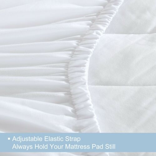 Luxury Quilted Mattress Topper Protector 100/% Cotton Extra Deep Fitted Cover