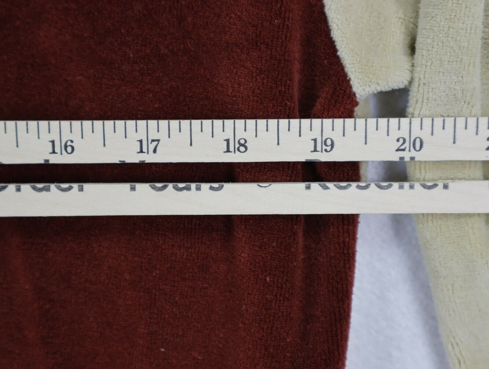 Sears Sportswear mens velour sweater medium brown… - image 7
