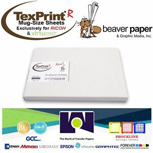 "Beaver Paper TEXPRINT R Transfer Sublimation Paper Ricoh//Virtuoso 8.5x11""100Sh"