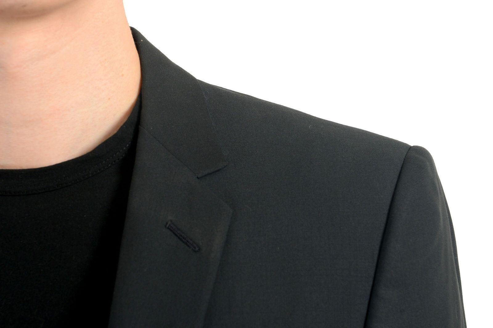Gianni Versace Herren Herren Herren 100% Wolle Zwei Knopf Schwarzer Blazer Sport Mantel Us  | Feinbearbeitung  | König der Quantität  | Discount  98a960