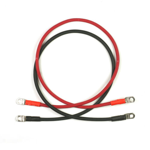 """Motorcycle 36/"""" Black Copper Welding Cables for RV 4 Gauge Red Car"""