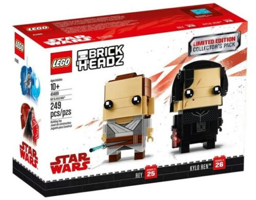 LEGO BrickHeadz Limited Edition Star Wars Rey & Kylo Ren Collector's Pack 41489