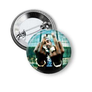 12 x 2Pac 32mm BUTTON PIN BADGES Hip Hop Rap Album Tupac Shakur Makaveli Music
