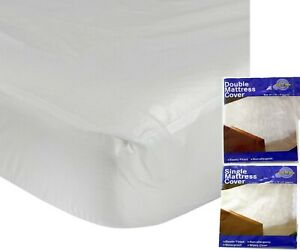 MATTRESS COVER PROTECTOR PILLOW WATERPROOF FITTED WET SHEET NURSERY ALL SIZE