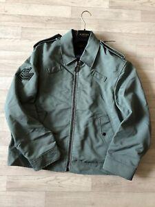 0a0ec8719 Details about Lanvin Paris Coat Mens Varsity Bomber Jacket Military Lanvin  Coat Grey/green