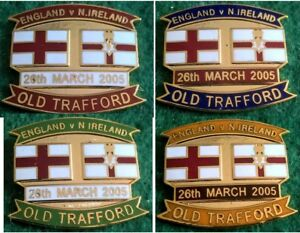 England-v-Northern-Ireland-2006-World-Cup-QF-Manchester-26-March-2005-Pin-Badge