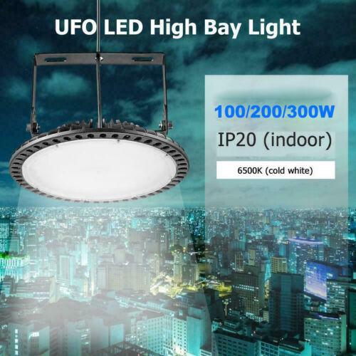 300W LED High Bay Light UFO Road Workshop Wearhouse Gym Industrial spotlight UK