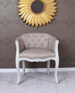 Silla del comedor vintage sillón barroco con Apoyabrazos TAPIZADA de ...