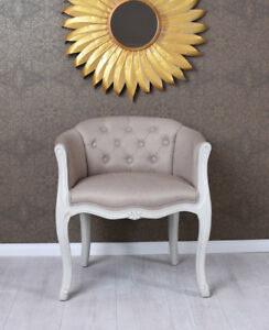 Detalles de Silla del comedor vintage sillón barroco con Apoyabrazos  TAPIZADA de madera