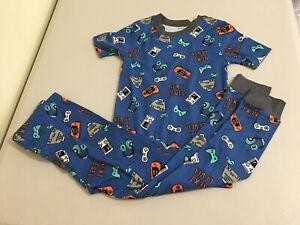 New Carter/'s Boys Construction Pajama set Snug Fit Short Sleeve Shorts