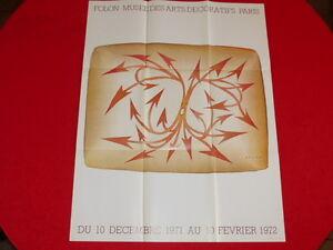 COLL-J-LE-BOURHIS-AFFICHES-Rare-FOLON-EXPO-MUSEE-ARTS-DECORATIFS-EO-1971