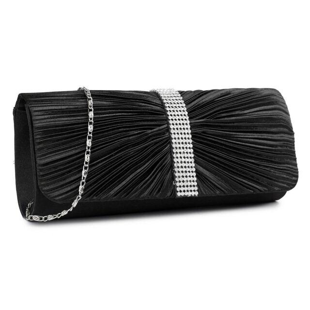 Purse Wedding Prom Bag Pink Tartan /& Black Satin Dolly Evening Handbag