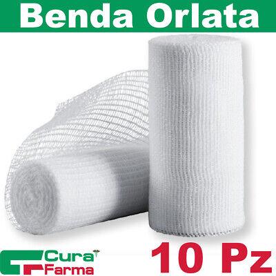 Benda Orlata Originale Cura Farma 10 Garze Orlate idrofile Per Medicazione 10 cm x 5 m