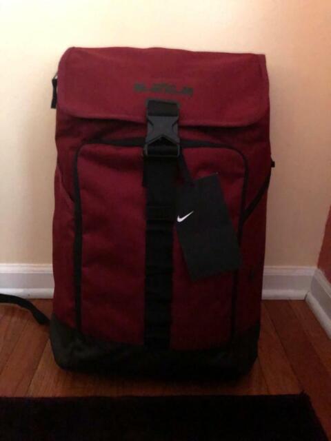 Mens Nike LeBron Max Air Ambassador Backpack Bag BA5447 677 RedBlack NEW