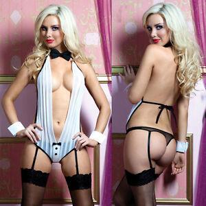 1pcs-Womens-Sexy-Lingerie-Nightwear-Deep-V-neck-Monokini-Garter-Belt-Hand-Ring