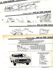 1968 1969 FORD FAIRLANE TORINO MOTOR'S ORIGINAL BODY FRAME CRASH ILLUSTRATIONS