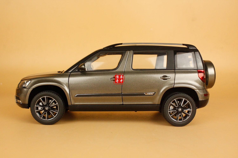 1 18 2013 Skoda YETI SUV model car dark brown color