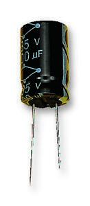 CAP ALU ELEC 100UF 16V RAD Capacitors Aluminium Electrolytic