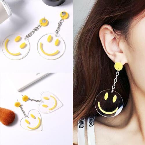 Smile Face Dangle Earrings Dress Women Funny SmileyEarring Luxury Cute Gift DI