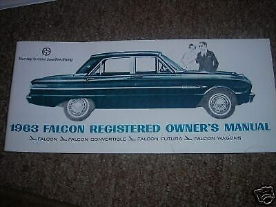 1963 FORD FALCON or SPRINT FACTORY OWNERS MANUAL