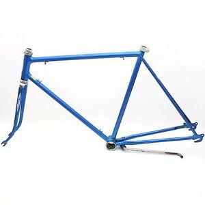 Vintage-1979-Schwinn-Blue-27-034-Wheel-Frame-Set-amp-Fork-10-Speed-Varsity-Sport-Bike