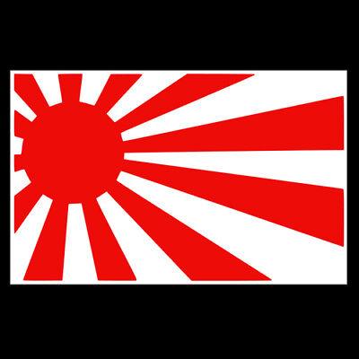 SPECIAL OFFER JDM RISING SUN FLAG GLOSS RED CUT VINYL DECAL STICKER FOR CAR