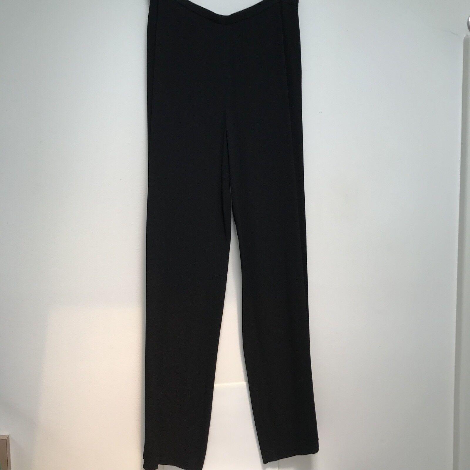 GIANFRANCO FERRE schwarz evening pants Wide Leg  Flat Front 10