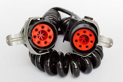 EBS - ABS  Elektro Wendel / Spiral Kabel  7 Polig 24V - AL 4,0m NKW LKW Anhänger