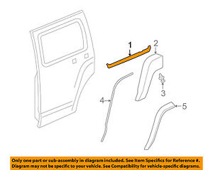 Details about Hummer GM OEM 06-10 H3 Rear Window/Door-Belt Molding  Weatherstrip Right 20875225