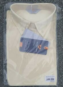 Aubrion short Sleeve Tie Show Shirt UK 14 16  large L yellow hunting jump
