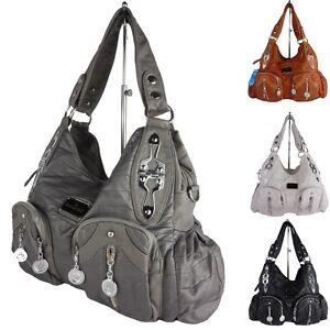 4aa81e259d75d Das Bild wird geladen SORAYA-Damentasche-Schultertasche-Alltagstasche- Tragetasche-Handtasche-AK13216