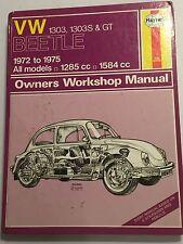VOLKSWAGEN VW BEETLE 1303 1303S GT SUPER SPORTS BUG HAYNES MANUAL 1972-1975