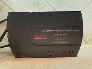 Details about APC Back-UPS ES 500 8-Outlet Battery Back Up Plus Surge  Protector (no battery)