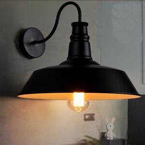 Indoor Wall Lights Bedroom Wall Lamp Kitchen Black Wall Sconce Bar ...