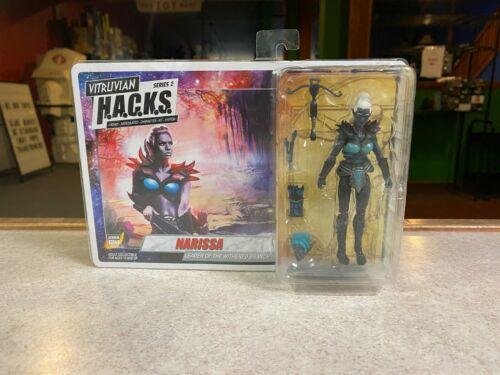 2017 patron lutte Studios Vitruvian HACKS 1:18 Figure Comme neuf on Card-Narissa