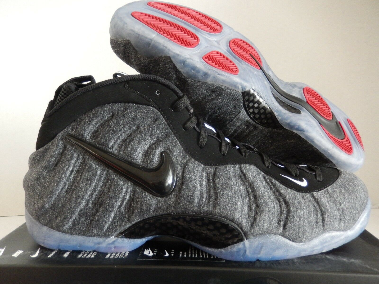 NIKE AIR FOAMPOSITE PRO FLEECE WOOL-DARK grigio-nero SZ SZ SZ 9.5 [624041-007] eaf647