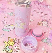 kawaii my melody flask thermos 340ml adorable heart shaped pink